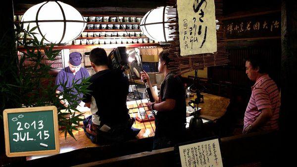かつ吉渋谷店撮影風景